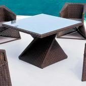 Twist Square Rattan Dining Table