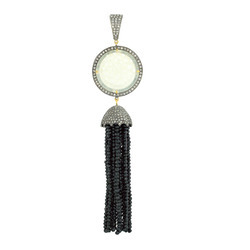Jade Pave Diamond Tassel Pendants