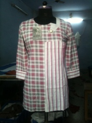 Ladies Cotton Check Kurtis
