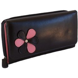 Black Leather Women Wallet