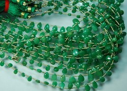 Natural Emerald Smooth Polished Pear Briolettes 10-5MM