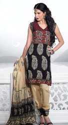 Silk Embroidered Salwar Kameez