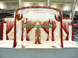 Wedding Fiber Crystal Ganesha Mandap