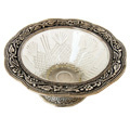 fascinating bowl- white metal bowl