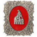 metal krishna frame white metal god idols figures