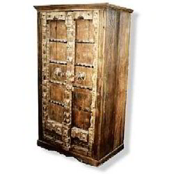 Carved Old Door Design CupBoard