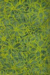 Green Batik Flock Printed Handmade Papers
