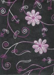 Black Embroidered Handmade Papers