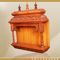 Rose Wood Pooja Mandhir With Door