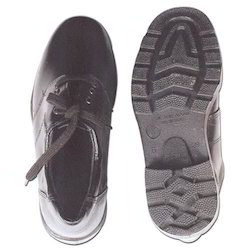 Plain Leather Safety Shoes