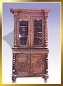 Wooden Carved Glass Cabinet