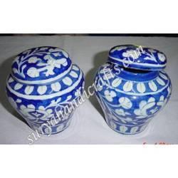 Blue Pottery Jar
