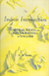 The Indian Imagination Critical Essays On Indian Writing In English