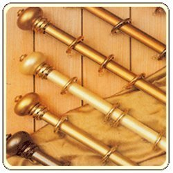 Metallic Curtain Rods