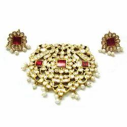 Pearl Kundan Pendant