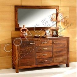 Wooden 4 Door 2 Door Sideboard