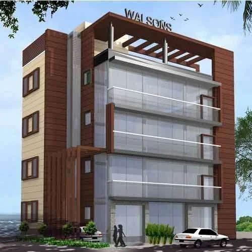 Acp Front Elevation Showroom Design : Acp cladding in electronics city bengaluru id