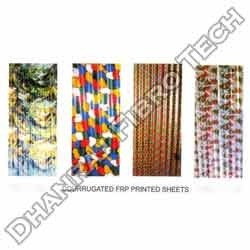 Corrugated FRP Printed Sheets
