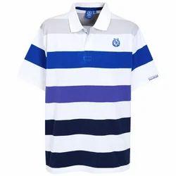 Yarn Stripe Polo Collared T-Shirts