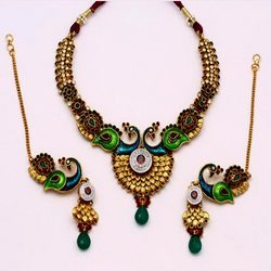 Peacock Style Antique Necklace Sets