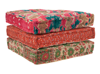 Floor Cushions Brocade Pure Silk Cushion Cover Manufacturer From Jaipur