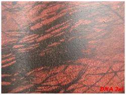 split Foil Print Leather