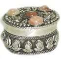 White Metal Pill Box