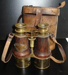 Brass Binocular with Leather Box