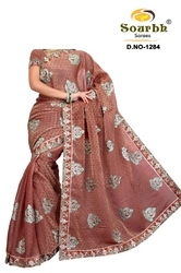 Heavy Embroidery Works Saree