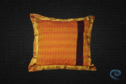 Golden Zari Ethnic Designer Cushion Cover