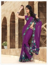 Beaded Embroidered Sarees 2012