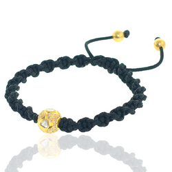 18k Gold Rose Cut Diamond Bead Bracelet