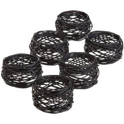 Bird Nest Metal Woven Napkin Rings