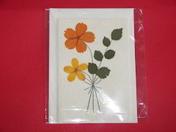 Dried Flower Blank Greeting Cards