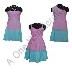 Stylish Hand Tie Dyed Cotton Fabric Dress