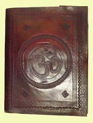 Om Design Embossed Leather Journals