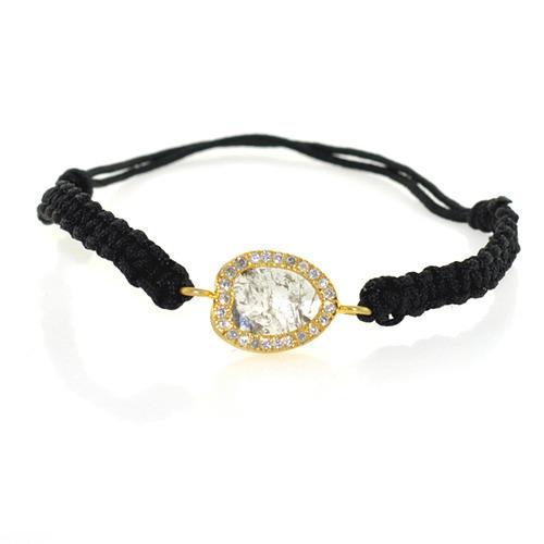 14k Yellow Gold Diamond Bracelet Jewelry