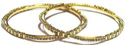 Gold / Silver  Plated Bangles With  Zircons
