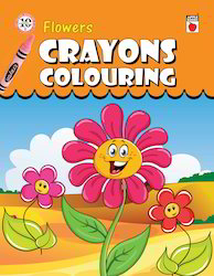 Crayon Coloring Flowers
