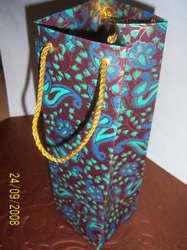 Paisley Design Printed Wine Bottle Bags