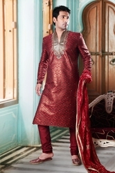 Red Silk Kurta Pajama