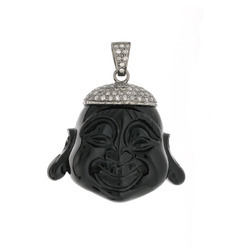 Buddha pendant crafted on Black Onyx