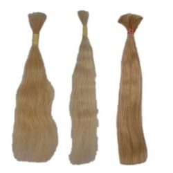 Remy Single Drawn Natural White Hair Straight Hair