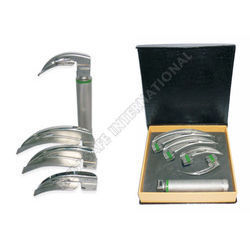 Laryngoscope Fiber Optic Handle with Mac Blades