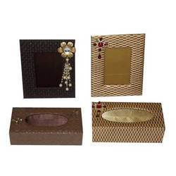 Decorative Photo Frame And Tissue Holder Box
