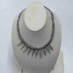 Spiked Silver Necklace