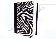 Journal With Zebra Skin Print Paper Cover