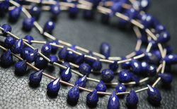 Lapis Lazuli Faceted Drops Briolettes