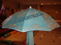 Embroidered Sky Blue Umbrella