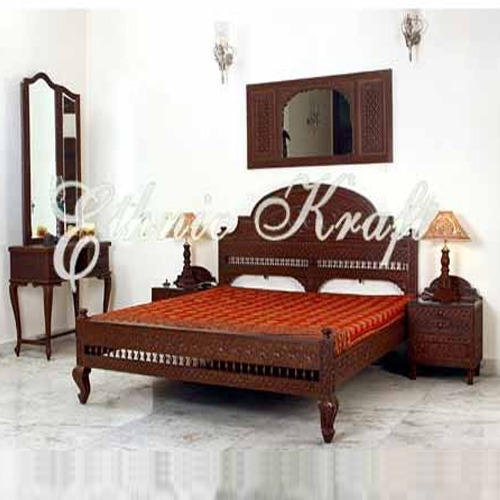 Carved Wooden Double Beds